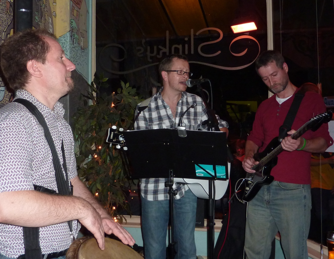 The man known only as Gafro, jamming with Gaz and Kitch in the days before Liquorice Allstars