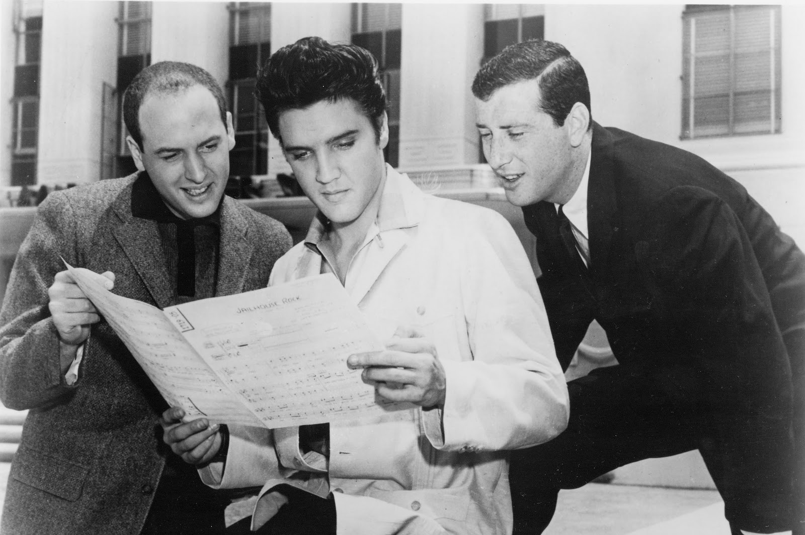 Mike Stoller, Elvis Presley and Jerry Lieber