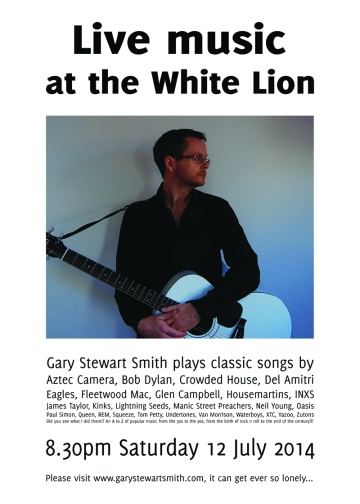 Back where he belongs: Gary Stewart Smith at the White Lion